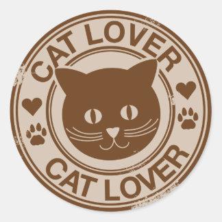 Cat Lover Round Sticker