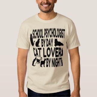 Cat Lover School Psychologist T-Shirt
