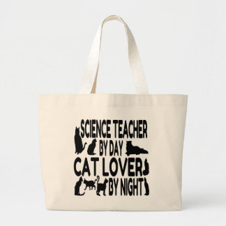 Cat Lover Science Teacher Large Tote Bag