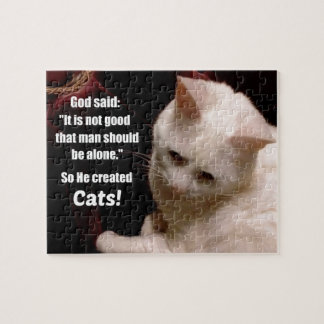 Cat lover sentiment. jigsaw puzzle