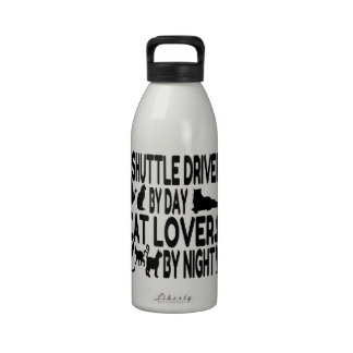 Cat Lover Shuttle Driver Reusable Water Bottle