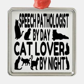 Cat Lover Speech Pathologist Metal Ornament