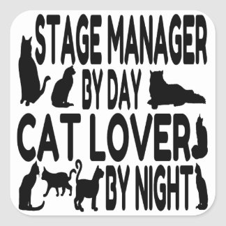 Cat Lover Stage Manager Square Sticker