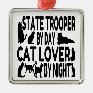 Cat Lover State Trooper Metal Ornament