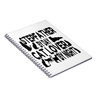 Cat Lover Stepfather Spiral Notebook