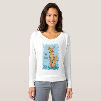 Cat Lover T-shirt with quirky caption