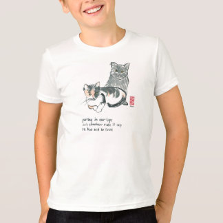 cat lover tee-American Apparel kid's T-Shirt