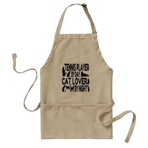 Cat Lover Tennis Player Apron