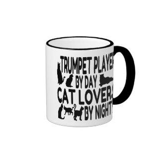 Cat Lover Trumpet Player Ringer Mug