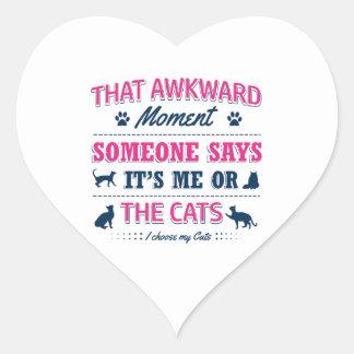 Cat lover tshirts heart sticker