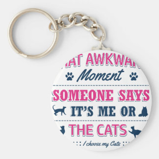 Cat lover tshirts key ring
