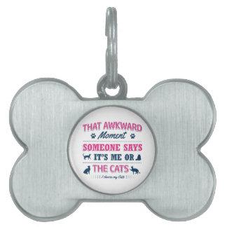 Cat lover tshirts pet name tag