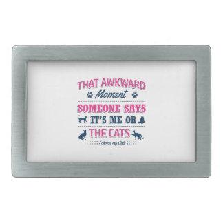 Cat lover tshirts rectangular belt buckle