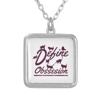 Cat lover tshirts silver plated necklace