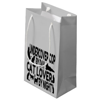 Cat Lover Undercover Cop Small Gift Bag