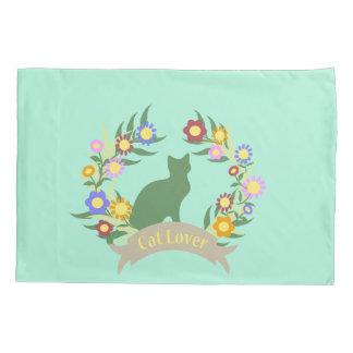 Cat Lover Wreath Pillowcase