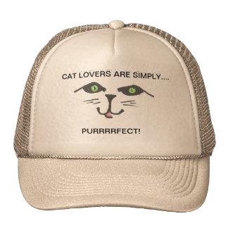 Cat Lover's Cute Kitty  Ball Cap Mesh Hat