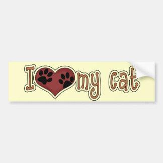 Cat Lover's Heart Paw Prints Bumper Sticker