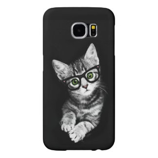 Cat Lover's Hipster Kitty Samsung Galaxy Case