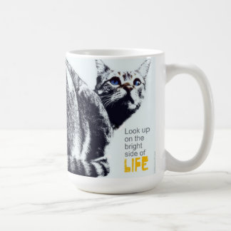 Cat Lovers look up on the bright side of life Mug