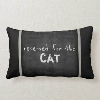 cat lovers quote pillow humor gray and white
