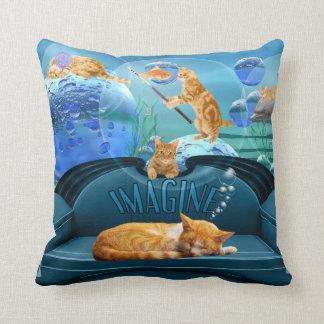 Cat Lover's Tabby Dreams Pillow Throw Cushions