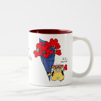 CAT LOVER'S VALENTINE Two-Tone MUG