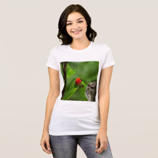 Cat Luck with the Ladybug T-Shirt
