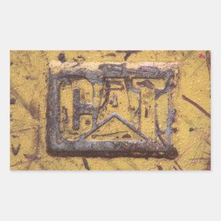 CAT Machinery Logo Rectangular Sticker