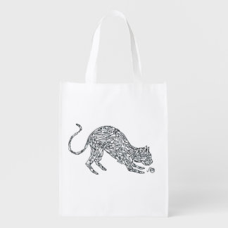 CAT, MADE OF MICE REUSABLE GROCERY BAG
