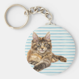 Cat, Maine Coon Key Ring