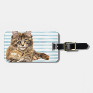 Cat, Maine Coon Luggage Tag