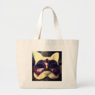 Cat Mask Large Tote Bag