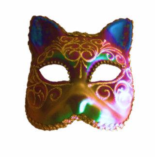 Cat Mask Standing Photo Sculpture