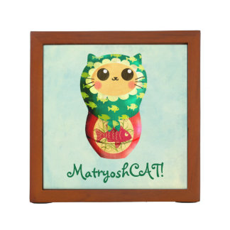 Cat Matryoshka Doll Desk Organiser