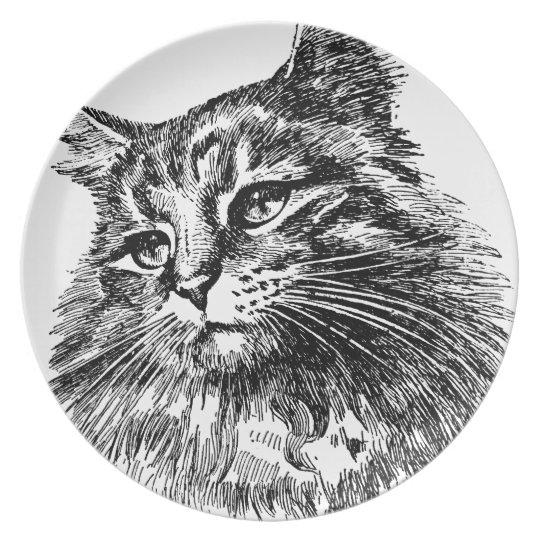 Cat Melamine Plate