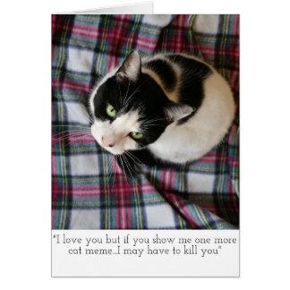 Cat Meme Greetings Card
