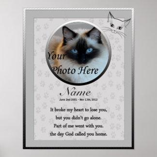 Cat Memorial Poster Print - Religious Verse