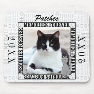 Cat Memorial Remembrance with Meow and Photo Mouse Pad
