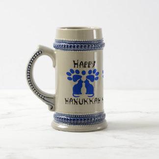 Cat Menorah Chanukah Steins Coffee Mug