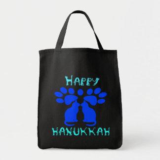 Cat Menorah Tote Bag