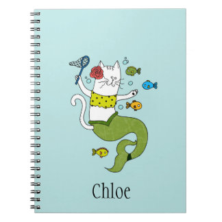 Cat-Mermaid School Notebook