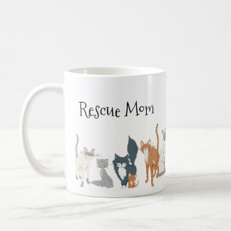 Cat Mom Cat Dad Rescue Mom Cat Breeds Coffee Mug