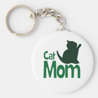 Cat Mom Key Ring