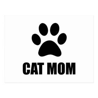 Cat Mom Paw Postcard