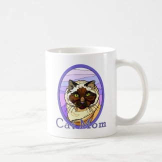 Cat Mom Stained Glass Look 2 Mug