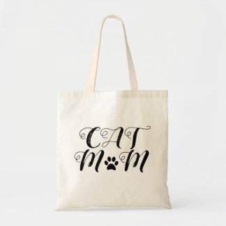 """Cat Mom"" Tote Bag"