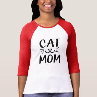 Cat Mom women's raglan shirt