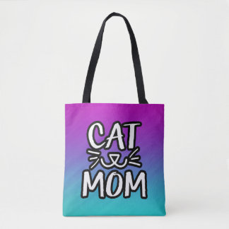 Cat Mom women's tote bag