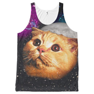 cat moon ,cat and moon ,catmoon ,moon cat All-Over print tank top
